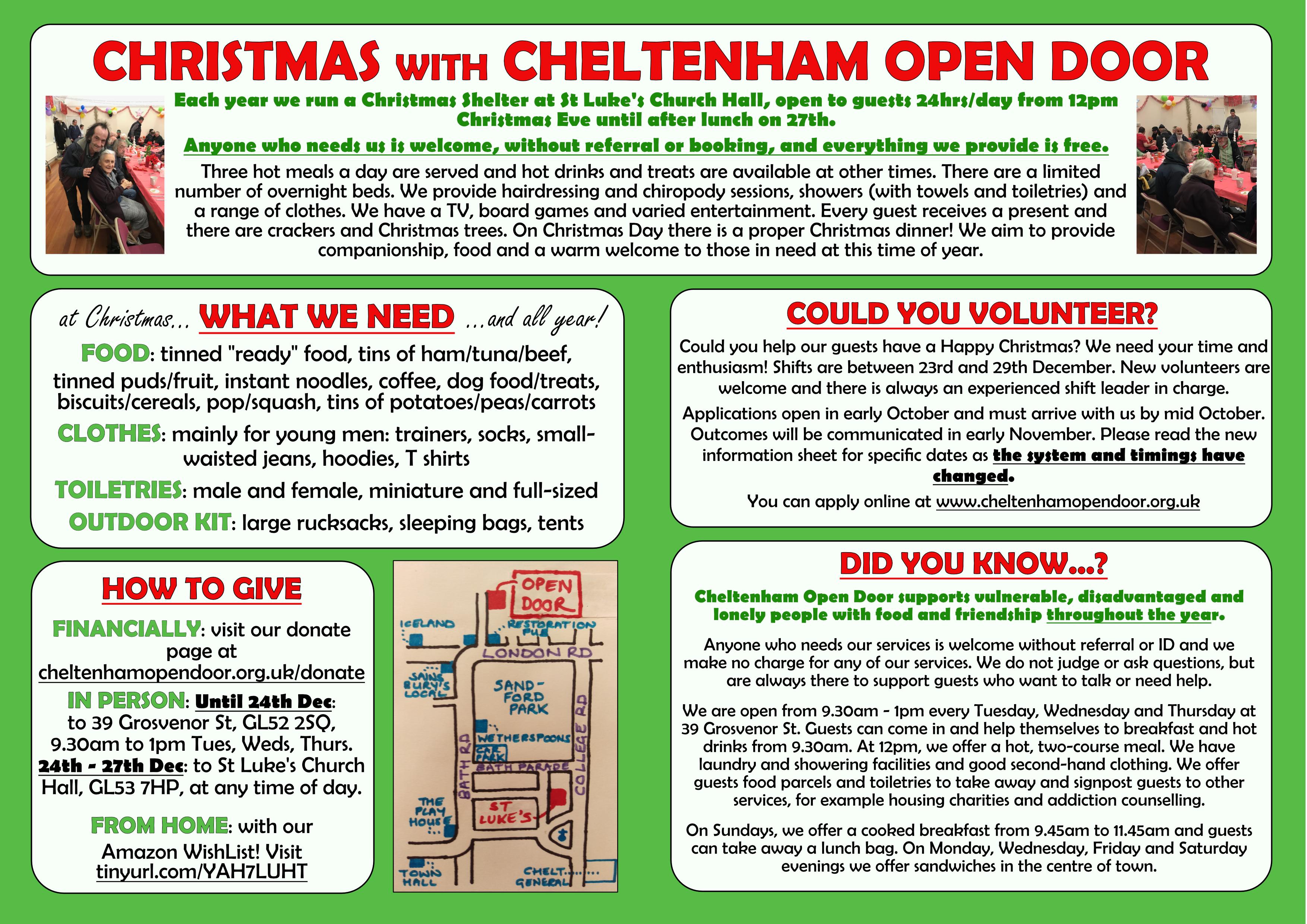 Christmas Questions To Ask.Christmas Information Cheltenham Open Door